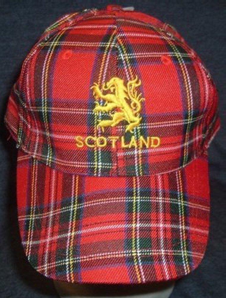 9c43afcc1 Hat - Baseball Cap Tartan Scotland Lion