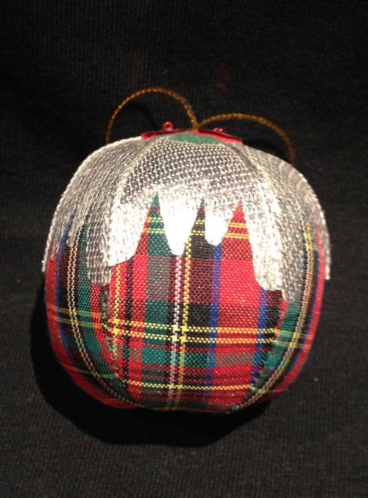 Tartan Christmas Tree Decoration Pudding Click To Enlarge