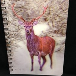 3d-image-notebook-stag-in-snow